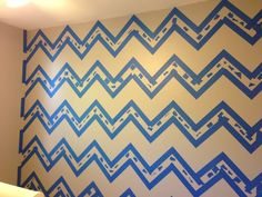 Pursuit of Pink: Chevron Wall Tutorial