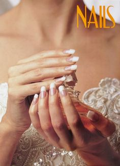 French Manicure Perfume Bottle NAILS Salon Poster - $1
