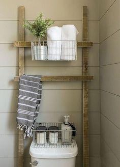 Rustic farmhouse bathroom decor ideas (12)