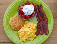 Gourmet Girl Cooks: Saturday's Low Carb Breakfast Plate - No Denny's Required