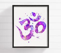 Om Art, Om Print, Watercolor Om, Yoga Art Print, Meditation Art, Zen Wall Art, Buddhist Art, Buddha Art, Spiritual Art, Om Symbol, Om Poster by MiaoMiaoDesign on Etsy https://www.etsy.com/listing/241171944/om-art-om-print-watercolor-om-yoga-art                                                                                                                                                                                 More