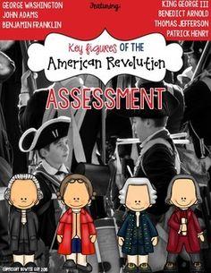 American Revolution Assessment Pack {Key Figures}