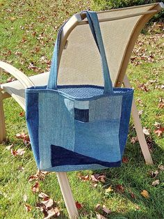 Asymetrical Upcycled Jean Tote