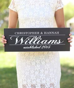 Another great find on #zulily! Wedding Personalized Wall Sign #zulilyfinds