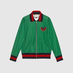 Gucci Uomo - Giacca in jersey con stampa web e serpente - 431941X5C103118