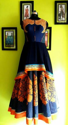 Dress: MOHHO by A&N Bridal wear, Special occasion, party. Indian Wedding Gowns, Indian Dresses, Indian Outfits, India Fashion, African Fashion, Birthday Frocks, Special Occasion Outfits, Dress Tutorials, Kurta Designs