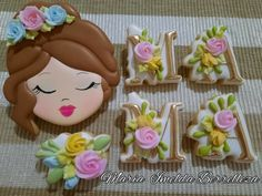Mother's Day Cookies, Desserts, Food, Decorated Cookies, Mothers, Tailgate Desserts, Deserts, Essen, Postres