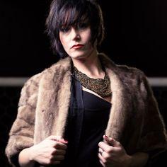 #KAPPAssion. fashion. vintage fur coat. statement necklace. high fashion on soccer field.