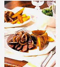 Love teriyaki steak? Then try this tasty top sirloin recipe made with sherry, sweet onion, shiitake mushrooms, garlic, and ginger/dcc