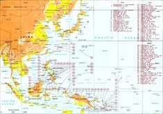 A map showing the main areas of the conflict and Allied landings in the Pacific in World War II, August 1942 to August Greece Honeymoon, Thailand Honeymoon, Peru Travel, Japan Travel, Thailand Beach, Thailand Tour, Battle Of Iwo Jima, Pearl Harbor Attack, Germany And Italy