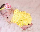 Etsy SPECIAL sale. Yellow Bubble lace petti romper / ruffles bloomer Sized for ages Newborn to 6 months. Great photo prop.  CHICABOO etsy shop  NEED this!