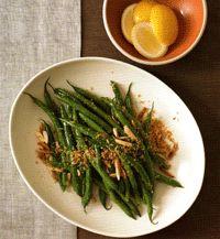 Best Lemony Green Beans With Almond Breadcrumbs Recipe on Pinterest