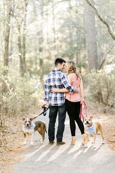 First Landing State Park engagement session with two dogs by Caroline Lima…