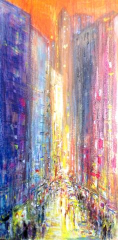 Semi abstract cityscape, acrylic crayon pen and glitter on card. Glitter, Abstract, Drawings, Artwork, Cards, Summary, Work Of Art, Maps, Drawing