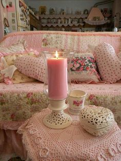 Love the Pinks, vintage & fresh modern, creates a cozy, comfort space
