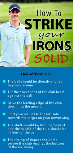 Golf Improvement Plan: How to Strike Irons Solid