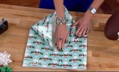 It has happened to everyone- you get that great, but awkward shaped gift home only to realize you have no gift bag! Rather than run to the store, you probably have all the supplies you need to wrap it beautifully …