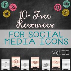10+ Resources for Social Media Icons
