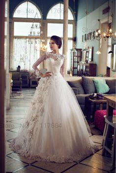 vestidos de novia con manguitas de encaje 2015 - Buscar con Google