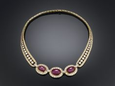 Estate Ruby Jewelry, Estate Ruby Necklace, Van Cleef & Arpels ~ M.S. Rau Antiques