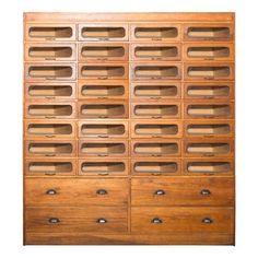 Extra Large Vintage Haberdashery Cabinet, Circa 1930s I love this!