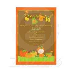 fall pumpkin girl clothesline baby shower