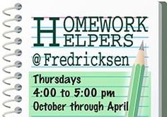 Homework Helpers are available to help 1st - 5th grade students most Thursdays from 4 - 5 pm with homework, research/report writing and test review.  All volunteers are retired teachers.