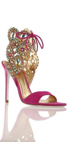 WOW-------!! Rene Caovilla SS2014️PM. I'd kill myself wearing these but they are over the to beautiful