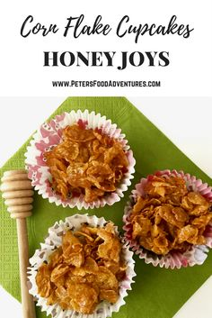 A classic Australian kids party treat made from Corn Flakes, so simple and easy to make, like Rice Krispies Squares! Australian Party, Australian Desserts, Australian Honey, Australian Food, Australian Recipes, Rice Krispies, Honey Joys Recipe, Kids Party Treats, Flake Recipes