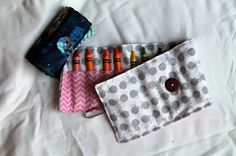 free crayon roll pattern and tutorial