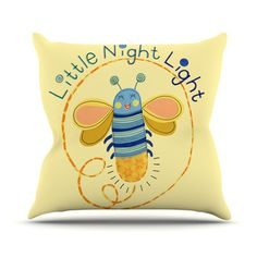 East Urban Home Little Night Bug Outdoor Throw Pillow