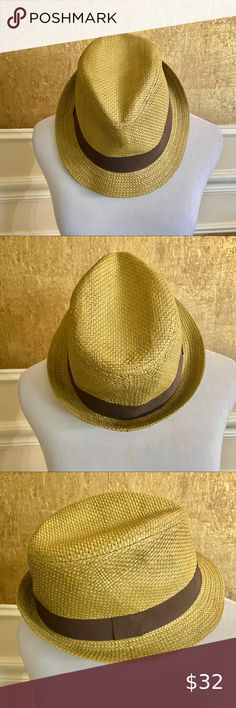 LAST ONES! New Linen Brown Fashion Fedora Trilby Hat L//XL    TOO CUTE