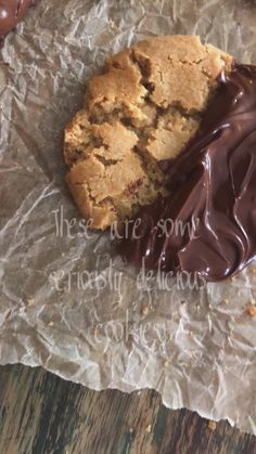 Chocolate Peanut Butter Cookies, Semi Sweet Chocolate Chips, Vegan Chocolate, Yummy Treats, Delicious Desserts, Sweet Treats, Yummy Food, Fun Baking Recipes, Cookie Recipes