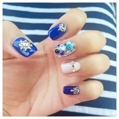 Blue nail art #nailbook