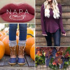 LipSense Fall Colors - Napa:  https://www.facebook.com/groups/483168452041934/