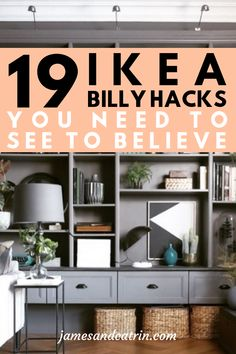 The Ikea Billy bookcase range is well known to all, but do you know the bes Ikea. - Ikea DIY - The best IKEA hacks all in one place Ikea Hacks, Ikea Furniture Hacks, Home Furniture, Retro Furniture, Furniture Stores, Cheap Furniture, Diy Hacks, Furniture Ideas, Ikea Billy Hack