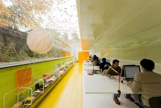 Sick indoor study session in the woods. By Spanish architect firm Selgas Cano.