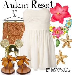 inspired by the Disney Aulani Resort in Hawaii :) Disney Themed Outfits, Disney Bound Outfits, Hawaian Party, Estilo Disney, Disneybound, Disney Style, Swagg, Cute Outfits, Style Inspiration