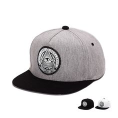 207a40af143 2018 Fashion Round Label Triangle Eye Illuminati Snapback Hats Women  Adjustable Baseball Cap Men Snapbacks Hip Hop Hats Price  11.52   FREE  Shipping ...