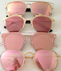 loubis-and-champagne:  pink sunnies [rayban] [dior]  ➵ more posts like this here and here | instagram @kylie_francis