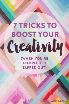 Even when you're completely out of ideas or not feeling creative, you can get back into the swing of things with one of these ways to boost your creativity.