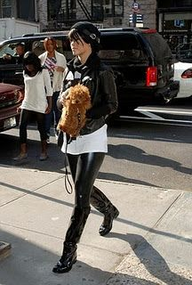 Rihanna- I want the dog. And more leather.