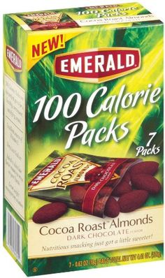 http://cheune.com/yummy Emerald Cocoa Roast Almonds, Dark Chocolate, 100 Calorie Pack, 4.41 Ounce Packages (Pack of 12)
