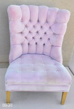 All Things Thrifty Home Accessories and Decor: Pink Chair is almost finished!