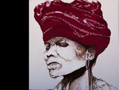 Xhosa women  1X1m   Oil on canvas  (SOLD - Dr. Jackson)