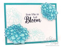 The Stamp Simply Ribbon Store - Altenew Dahlia Blossoms (My Sheri CARDS)
