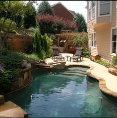 Pool Idea Swimming Waterfall House Pools Small Backyard