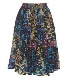 Light as a feather skirt with elastic waistband. 70% cotton / 30% silk. By Gorman.