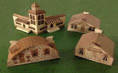 1934 Fold-Up House Paper Models Free Templates Download