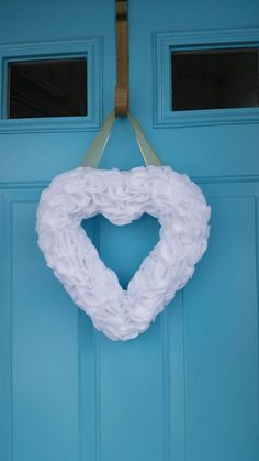 Check out this item in my Etsy shop https://www.etsy.com/listing/271335347/heart-wreath-white-50th-anniversary
